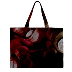 Dark Red Candlelight Candles Medium Tote Bag by yoursparklingshop