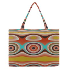 Oval Circle Patterns Medium Zipper Tote Bag by theunrulyartist