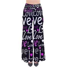 Valentine s day pattern - purple Pants by Valentinaart
