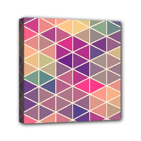 Chevron Colorful Mini Canvas 6  X 6  by AnjaniArt