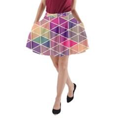 Chevron Colorful A-Line Pocket Skirt