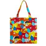 Bear Umbrella Zipper Grocery Tote Bag