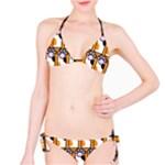 Cute Cat Hand Orange Bikini Set