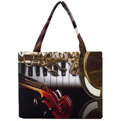 Classical Music Instruments Mini Tote Bag by AnjaniArt