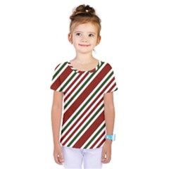 Line Christmas Stripes Kids  One Piece Tee