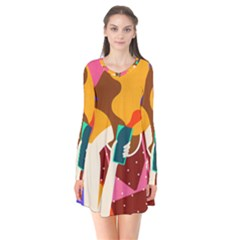 Girl Colorful Copy Flare Dress by AnjaniArt