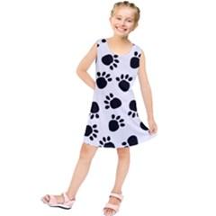 Paws Black Animals Kids  Tunic Dress by AnjaniArt