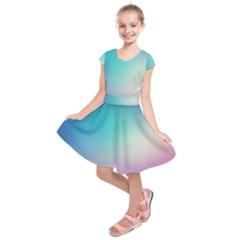 Background Blurry Template Pattern Kids  Short Sleeve Dress by Zeze