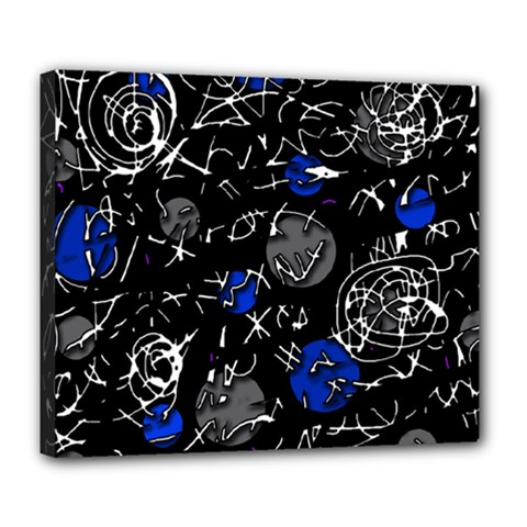 Blue Mind Deluxe Canvas 24  X 20   by Valentinaart