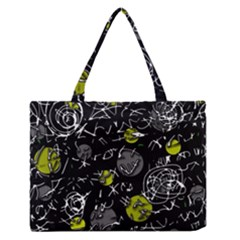 Yellow Mind Medium Zipper Tote Bag by Valentinaart