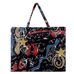 Confusion Zipper Large Tote Bag by Valentinaart