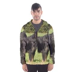 Brussels Griffon Full  Hooded Wind Breaker (Men)
