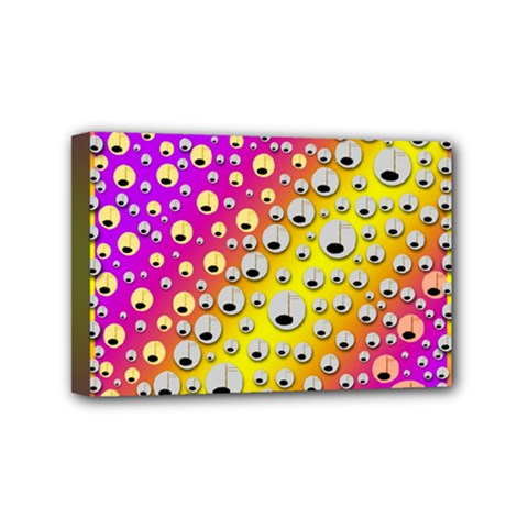 Happy And Merry Music Mini Canvas 6  X 4  by pepitasart