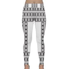 Pattern Background Texture Black Classic Yoga Leggings