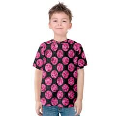 CIR2 BK-PK MARBLE Kids  Cotton Tee by trendistuff