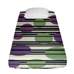 Purple And Green Elegant Pattern Fitted Sheet (single Size)