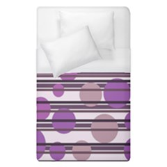 Purple Simple Pattern Duvet Cover (single Size) by Valentinaart