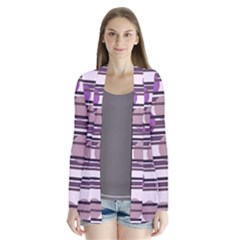 Purple simple pattern Cardigans by Valentinaart
