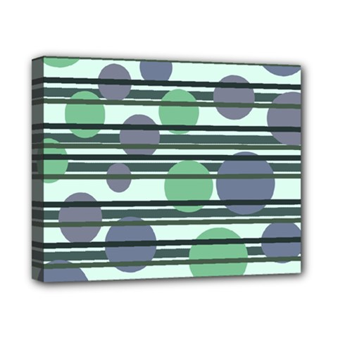 Green Simple Pattern Canvas 10  X 8  by Valentinaart