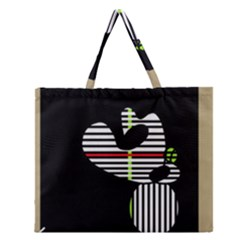 Abstract Art Zipper Large Tote Bag by Valentinaart