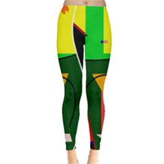 Abstract Lady Leggings  by Valentinaart