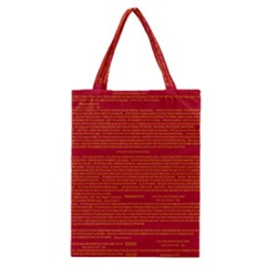 Writing Grace Classic Tote Bag by MRTACPANS