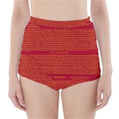 Writing Grace High Waisted Bikini Bottoms by MRTACPANS
