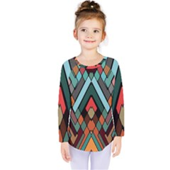 Abstract Mosaic Color Box Kids  Long Sleeve Tee by AnjaniArt