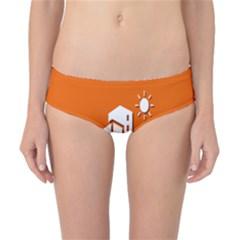 Building Orange Sun Copy Classic Bikini Bottoms by AnjaniArt