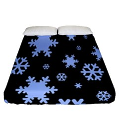 Blue Black Resolution Version Fitted Sheet (queen Size)