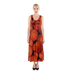 Basketball Sport Ball Champion All Star Sleeveless Maxi Dress