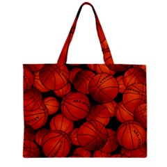 Basketball Sport Ball Champion All Star Zipper Mini Tote Bag by AnjaniArt