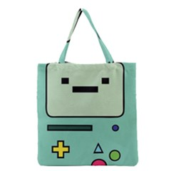 Cute Calculator Grocery Tote Bag by AnjaniArt