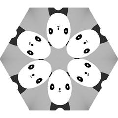 Cute Panda Animals Mini Folding Umbrellas by AnjaniArt