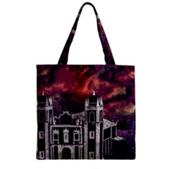 Fantasy Tropical Cityscape Aerial View Zipper Grocery Tote Bag by dflcprints