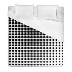 Dark Circles Halftone Black White Copy Duvet Cover (full/ Double Size)