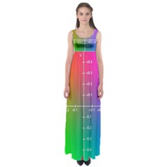 Formula Plane Rainbow Empire Waist Maxi Dress by AnjaniArt
