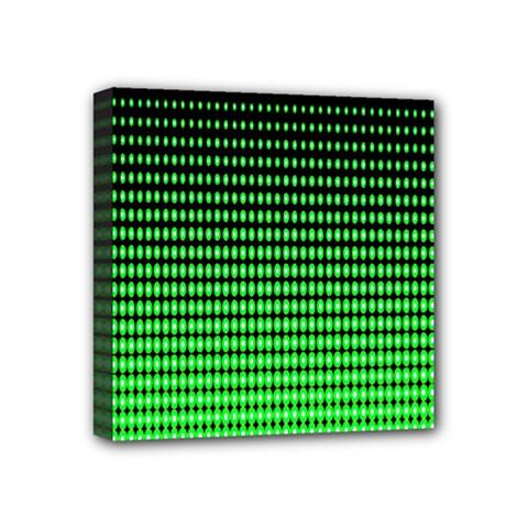 Neon Green And Black Halftone Copy Mini Canvas 4  x 4