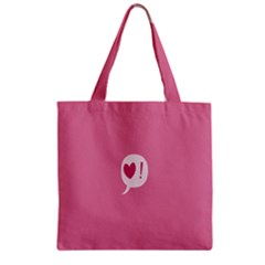 Valentines Pink Day Copy Zipper Grocery Tote Bag by AnjaniArt