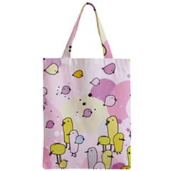 Cut Bird Zipper Classic Tote Bag by AnjaniArt
