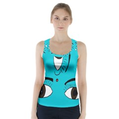 Eyes Three Blue Racer Back Sports Top by AnjaniArt