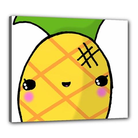 Kawaii Pineapple Canvas 24  X 20  by CuteKawaii1982