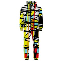 Casual Abstraction Hooded Jumpsuit (men)  by Valentinaart