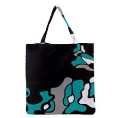 Cyan Creativity 2 Grocery Tote Bag by Valentinaart