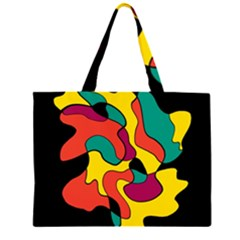 Colorful Spot Zipper Large Tote Bag by Valentinaart