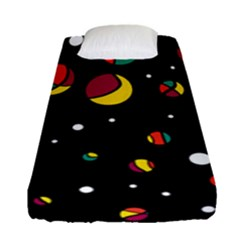 Colorful Dots Fitted Sheet (single Size) by Valentinaart
