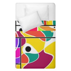 Colorful windows  Duvet Cover Double Side (Single Size) by Valentinaart