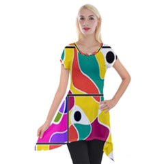 Colorful Windows  Short Sleeve Side Drop Tunic