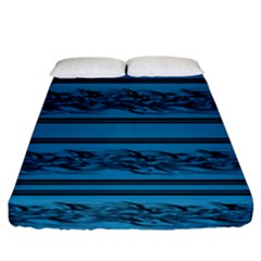 Blue Barbwire Fitted Sheet (king Size) by Valentinaart