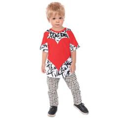 Red Valentine 2 Kids  Raglan Tee